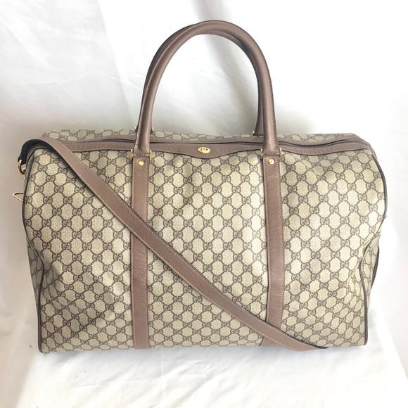 7fafe85fc596 Gucci Bags | Sold Vintage Gg Supreme Duffle Travel Bag | Poshmark